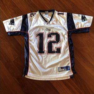 Boys TOM BRADY Patriots Jersey Sz L 14-16 f65e24961
